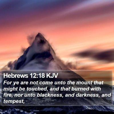 Hebrews 12:18 KJV Bible Verse Image