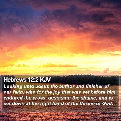 Hebrews 12:2 KJV Bible Verse Image