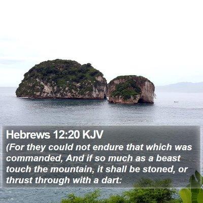 Hebrews 12:20 KJV Bible Verse Image