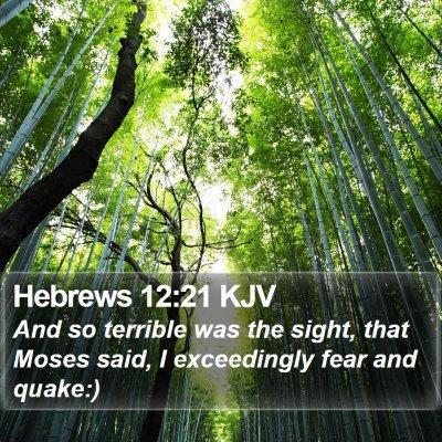 Hebrews 12:21 KJV Bible Verse Image