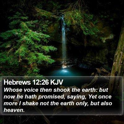 Hebrews 12:26 KJV Bible Verse Image
