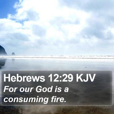 Hebrews 12:29 KJV Bible Verse Image