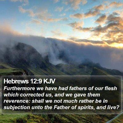 Hebrews 12:9 KJV Bible Verse Image