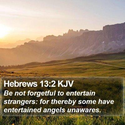 Hebrews 13:2 KJV Bible Verse Image