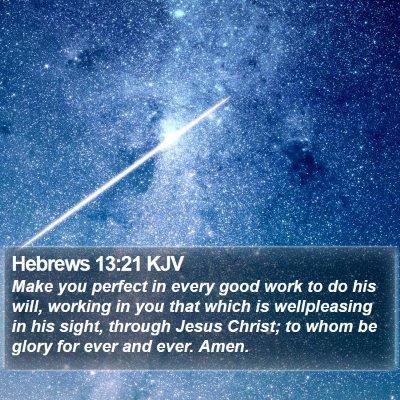 Hebrews 13:21 KJV Bible Verse Image