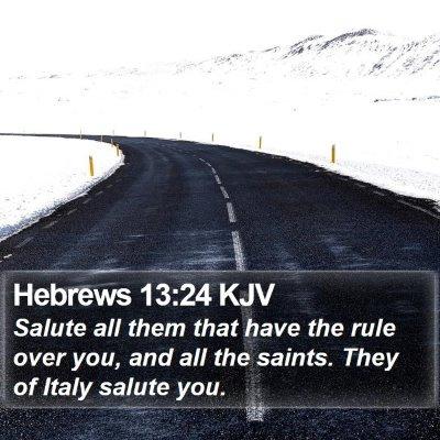 Hebrews 13:24 KJV Bible Verse Image