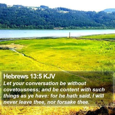 Hebrews 13:5 KJV Bible Verse Image