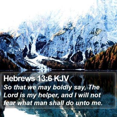 Hebrews 13:6 KJV Bible Verse Image