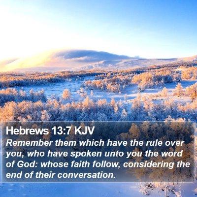 Hebrews 13:7 KJV Bible Verse Image