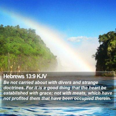 Hebrews 13:9 KJV Bible Verse Image