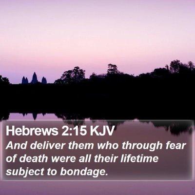 Hebrews 2:15 KJV Bible Verse Image