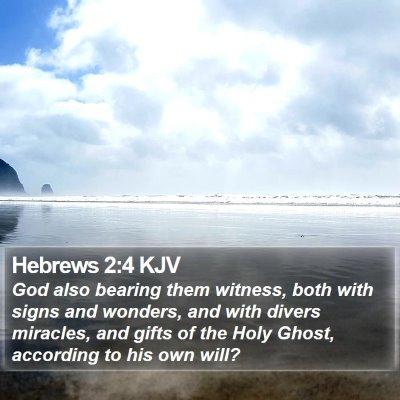 Hebrews 2:4 KJV Bible Verse Image