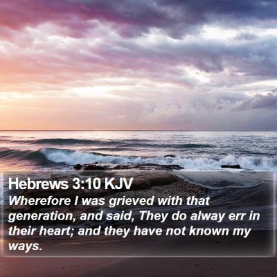 Hebrews 3:10 KJV Bible Verse Image