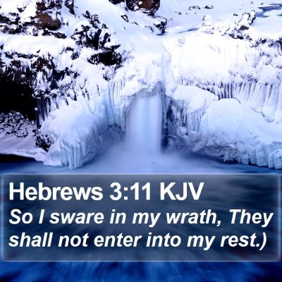 Hebrews 3:11 KJV Bible Verse Image