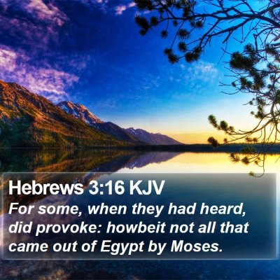 Hebrews 3:16 KJV Bible Verse Image