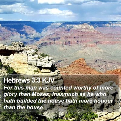 Hebrews 3:3 KJV Bible Verse Image
