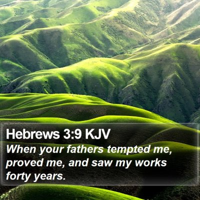 Hebrews 3:9 KJV Bible Verse Image