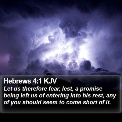 Hebrews 4:1 KJV Bible Verse Image