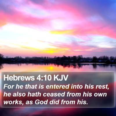 Hebrews 4:10 KJV Bible Verse Image