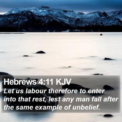 Hebrews 4:11 KJV Bible Verse Image