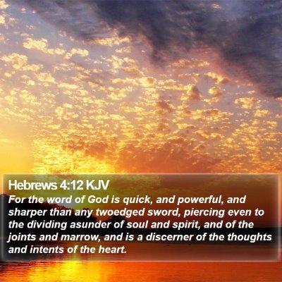 Hebrews 4:12 KJV Bible Verse Image
