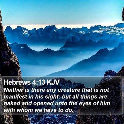 Hebrews 4:13 KJV Bible Verse Image