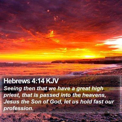 Hebrews 4:14 KJV Bible Verse Image