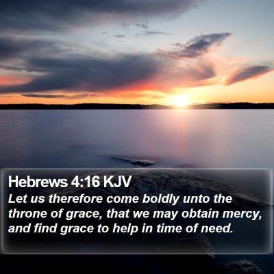 Hebrews 4:16 KJV Bible Verse Image