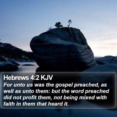 Hebrews 4:2 KJV Bible Verse Image