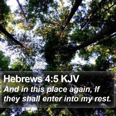 Hebrews 4:5 KJV Bible Verse Image