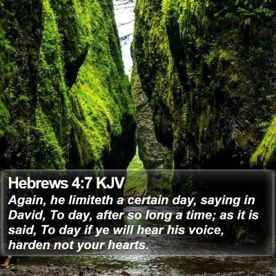 Hebrews 4:7 KJV Bible Verse Image