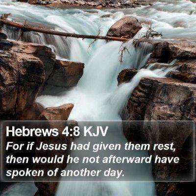 Hebrews 4:8 KJV Bible Verse Image