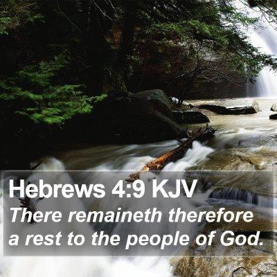 Hebrews 4:9 KJV Bible Verse Image