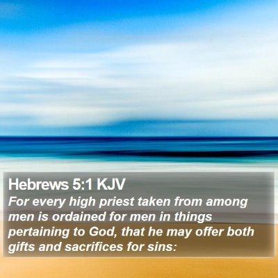 Hebrews 5:1 KJV Bible Verse Image