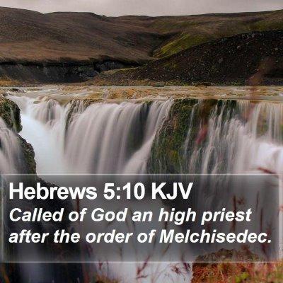 Hebrews 5:10 KJV Bible Verse Image