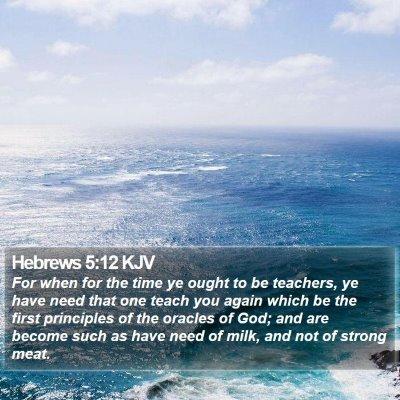 Hebrews 5:12 KJV Bible Verse Image