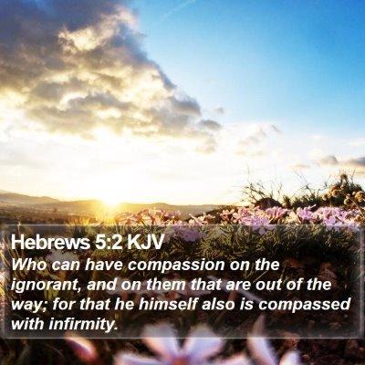 Hebrews 5:2 KJV Bible Verse Image