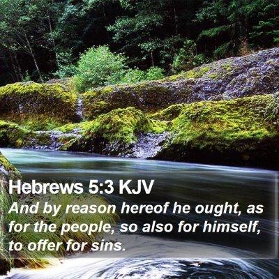 Hebrews 5:3 KJV Bible Verse Image