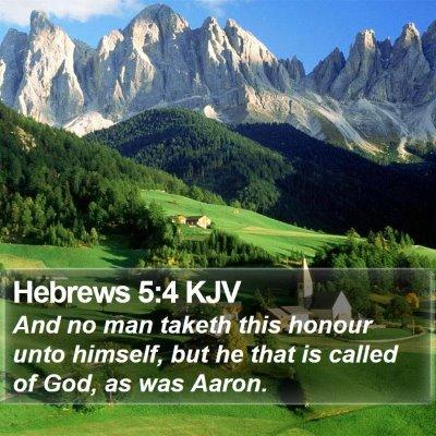 Hebrews 5:4 KJV Bible Verse Image