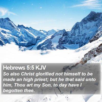 Hebrews 5:5 KJV Bible Verse Image