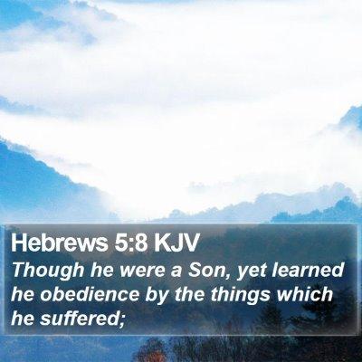 Hebrews 5:8 KJV Bible Verse Image