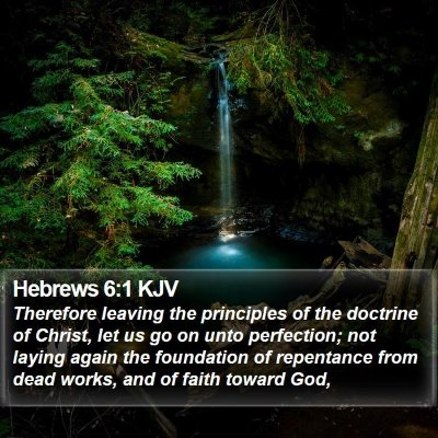 Hebrews 6:1 KJV Bible Verse Image