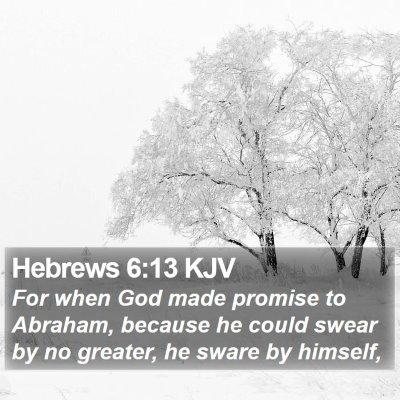 Hebrews 6:13 KJV Bible Verse Image