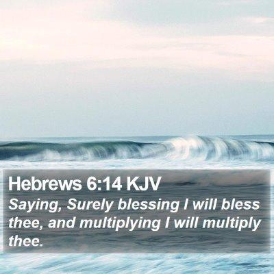 Hebrews 6:14 KJV Bible Verse Image