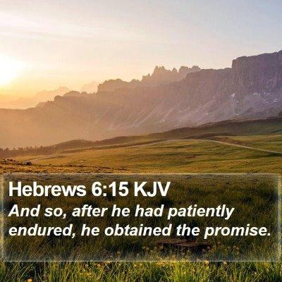 Hebrews 6:15 KJV Bible Verse Image