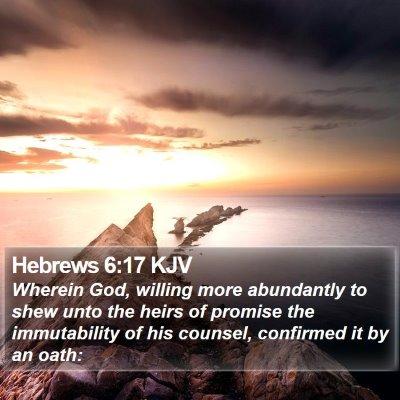 Hebrews 6:17 KJV Bible Verse Image
