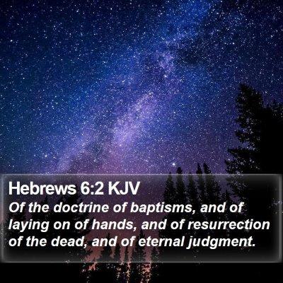 Hebrews 6:2 KJV Bible Verse Image
