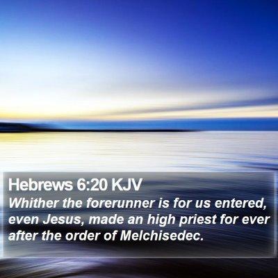 Hebrews 6:20 KJV Bible Verse Image