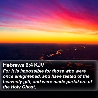 Hebrews 6:4 KJV Bible Verse Image