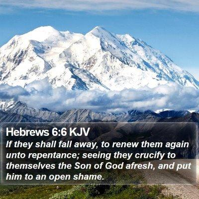 Hebrews 6:6 KJV Bible Verse Image